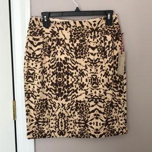 BR Heritage Animal Print Skirt